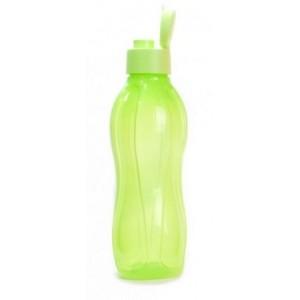 Эко-бутылка в салатовом цвете с клапаном 1л