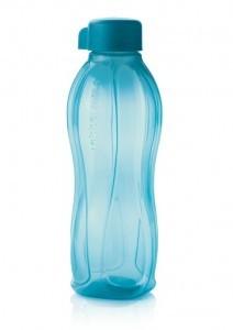 Эко-бутылка с винтовой крышкой (750мл) темно-голубая